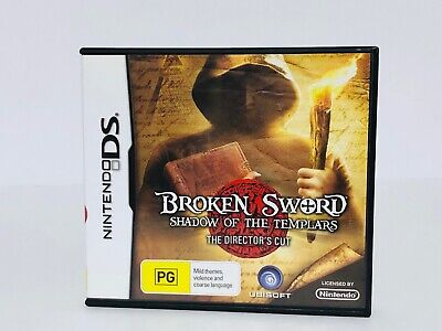 Broken Sword Shadow Of The Templars - Nintendo Ds **Excellent Condition**