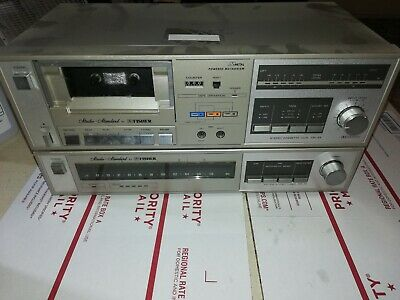 🔥 FISHER FM-33 AM/FM STEREO TUNER  and CR-33 Tape player lot combo vintage 🔥