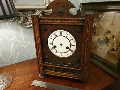 Antique P H & S, Haas, Uhrenfabrik Teutonia German Clock, SPARES or REPAIR, A15