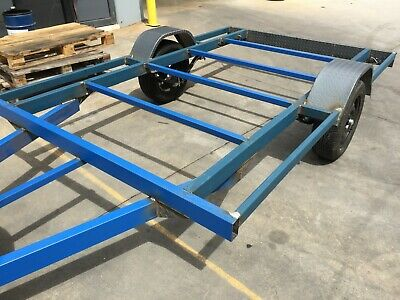 Brand new Flat BED FRAME Trailer single axle 10X6.6FT H-DUTY DIY TEAR DROP