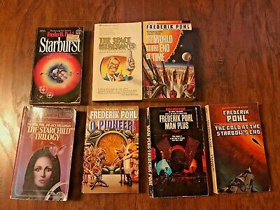 Frederick Pohl Sci Fi Book LOT of 7 books