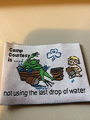 Girl Guides / Scouts Camp courtesy is not using the last drop of water