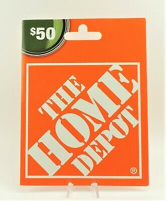 HOME DEPOT $50 GIFT CARD Use online or in store NO EXPIRATION Good Nationwide