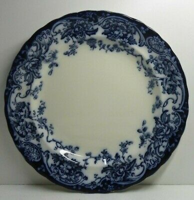 Antique Chatsworth K&Co B Late Mayers  England Oriental Flow Blue Pottery Plate
