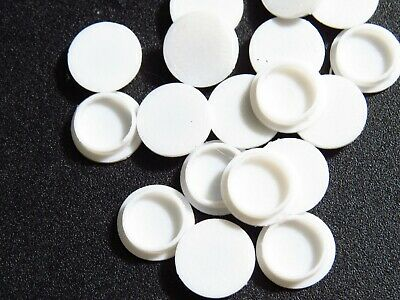 Arcade1Up Screw Hole Caps/Covers 40 Covers Removable WHITE