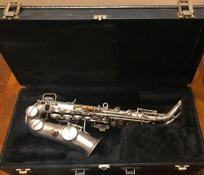 1925 Buescher True Tone Curved Soprano Saxophone with front F, 5 MPC lot