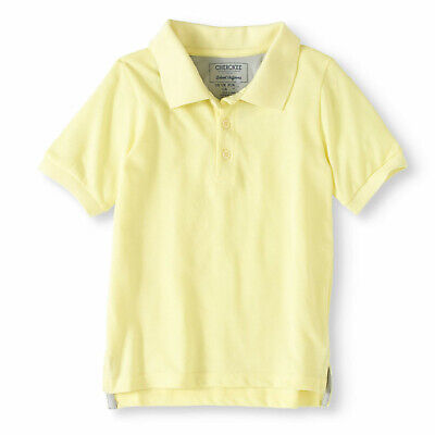 Cherokee Boys Yellow School Uniform Short Sleeve Polo Shirt 10-12 Medium