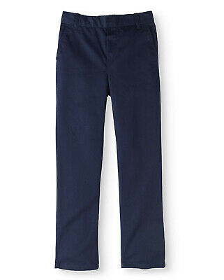 Cherokee Boys School Uniform Twill Elastic Waist Pull On Pants Size 6, 7