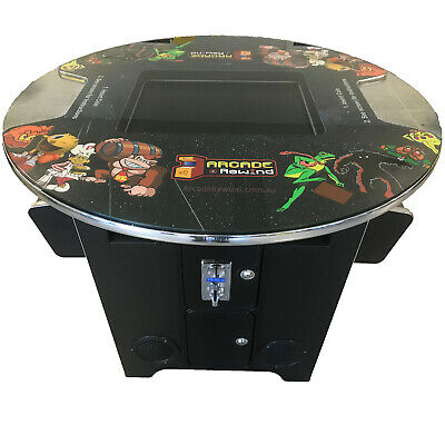"""60 Game Round Cocktail Table Top Arcade Machine 19"""" Screen inc Ship & 24mth warr"""
