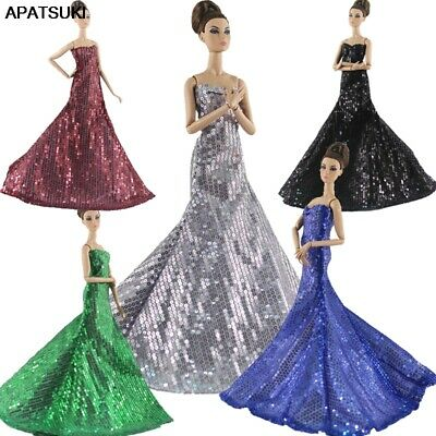 "High Fashion Sequin Party Dress For 11.5"" 1/6 Doll Clothes Princess Gown Outfits"