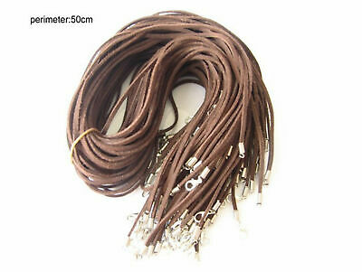 Wholesale 10pcs coffee Suede Leather String 20 inches (50cm) Necklace Cords