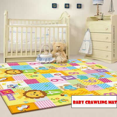 Portable Baby Play Mat - Large Double Sides Non-Slip Waterproof For Playroom