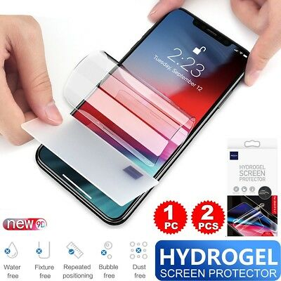Flexible Hydrogel Screen Protector Film For iPhone Xs Max/Xr/Xs/X/6 6S 7 8 + AU