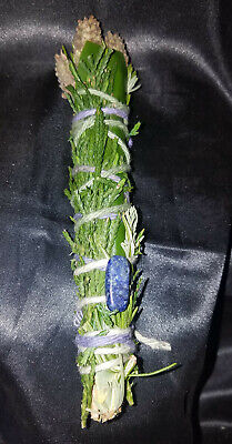 "Cedar, Rosemary, Bay, Lavender, LAPIS Incense Smudge Stick 4-5"", Magic, Reiki!"