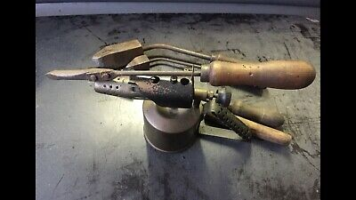 Antique Blow Torch And Irons
