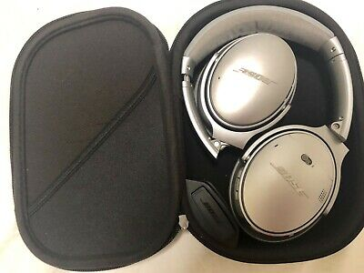 Bose QuietComfort 35 Series I Wireless Headphones, Noise Cancelling, Used,Silver
