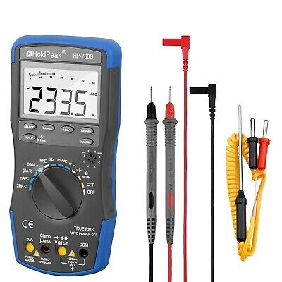Digital Multimeter Meter AC/DC Volt Auto Engine Analyzer Handhold LCD Display