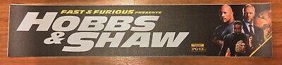 💥 Fast & Furious - HOBBS & SHAW - Movie Theater Poster / Mylar - LARGE 5x25