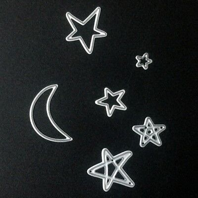 6pcs/set Stars Moon Metal Cutting Dies Mold DIY Scrapbooking Paper Card Cr#smx