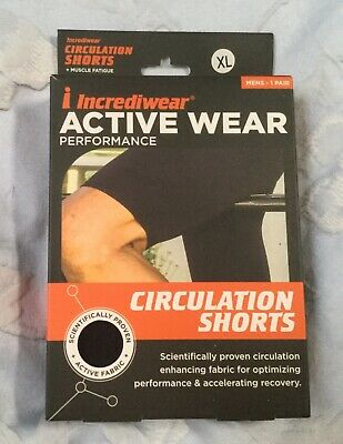 Incrediwear Active Wear Circulation Shorts Baselayer Mens Size XL 38-40in