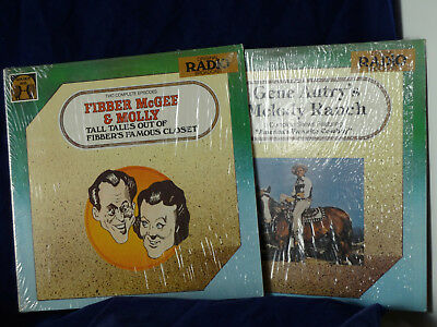 Lot 2 Fibber McGee & Molly Tall Tales + Gene Autry's Melody Ranch LPs shrink EX!