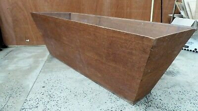 Vintage Mid Century Wooden Planter Pot Plant Holder  Commercial Foyer Entrance