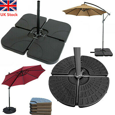 Square & Fan Parasol Base Stand Weights for Banana Hanging Cantilever Umbrella