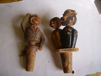 Two vintage fun mechanical Anri figures from 1950s-1960s on.