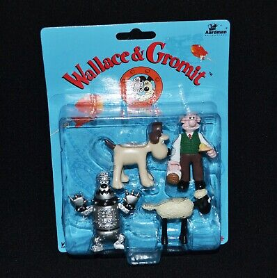 Wallace & Gromit Figures A Close Shave Vintage 1989 Rare Find