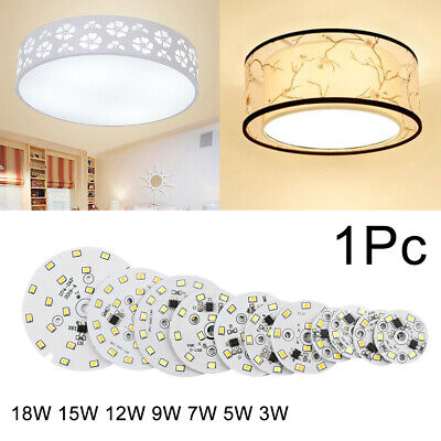 Smart IC Round 3-18W LED Chip Bean Light 2835 SMD Plate Lamp AC220V