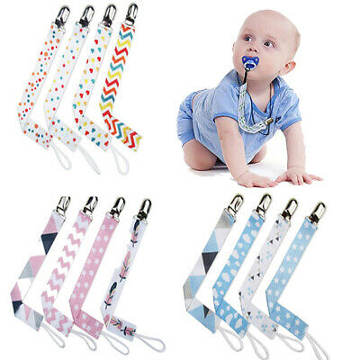 4X Beautiful  Dummy Clip Baby Soother Clips Chain Holder Pacifier Modern Design