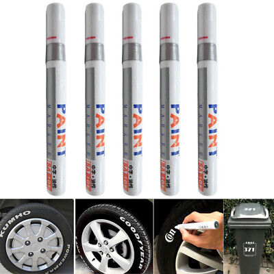 5PC Paint Pen Marker Waterproof Permanent Car Tire Lettering Rubber Letter