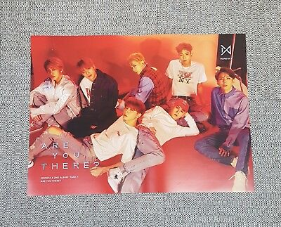 K-POP MONSTA X 2nd Album [TAKE.1 ARE YOU THERE?] A Ver. OFFICIAL POSTER -NEW-