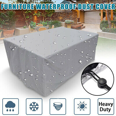 Waterproof Dustproof Outdoor Rectangle Table Cover Patio Furniture Protection