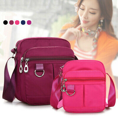 Multi-layer Solid Color Crossbody Small Casual Shoulder Bag Travel Satchel HD
