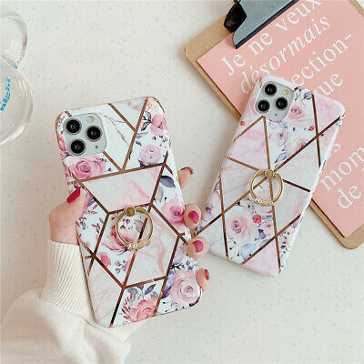 For iPhone XS MAX XR 8Plus Case Geometrical Marble Pattern Soft TPU Phone Cover