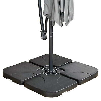 Square Grey Parasol Base Stand Weights for Banana Hanging Cantilever Umbrella UK