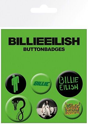 Billie Eilish Mix Music Indie 6 Pin Assorted Badges Badge Pack