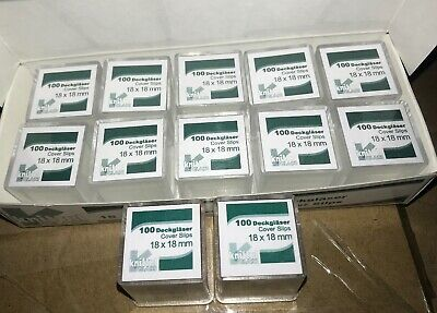 Knittle Glass Mircoscope Square Cover Slips No.1 18 X 18mm 1200pcs