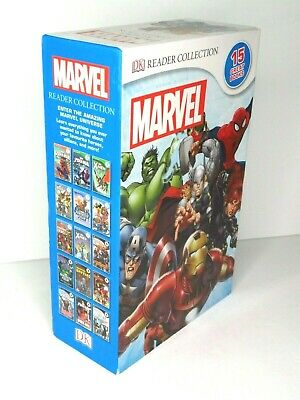 Marvel DK Reader Collection of 15 Books - Avengers Iron Man Spider-Man X-Men