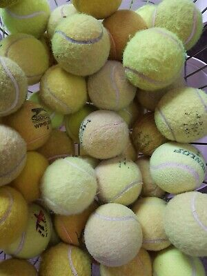 30 Used Tennis Balls For Dogs - BEWARE, UNWASHED BALLS CAN BE DANGEROUS FOR DOGS