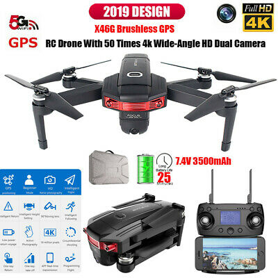 5G WIFI Mavic Drones 16MP 4K HD FPV Camera GPS Brushless RC Quadcopter 3500MAH