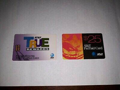 VTG/Collectible TWO AT&T Phone– True Rewards & $25 Prepaid Card Unused/Expired