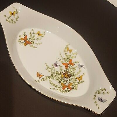 The Shafford Co. Augratin Dish Ecstacy Pattern Butterflys Floral