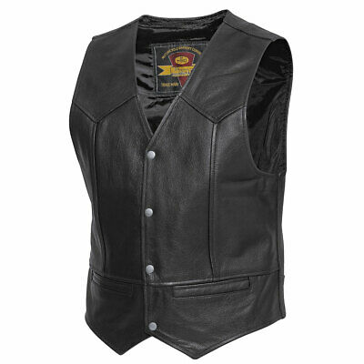 Held Dillon Motorbike Motorcycle Leather Waistcoat Black
