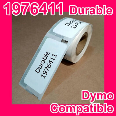 2 rolls of Compatible Dymo 1976411 Durable White Address Labels