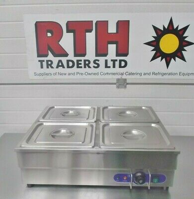 RTH ~ Bain Marie ~ 4 x 1/2 Gastronorm Pans ~ Electric Table Top Pots ~ £250+V
