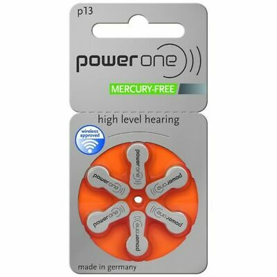 Power One Mercury Free Hearing Aid Batteries Size 13 - 60 cells