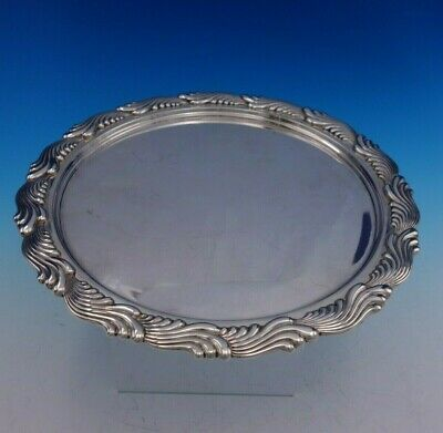 """Wave Edge by TIffany and Co Sterling Silver Tray #5766-10191 10"""" Dia (#3447)"""