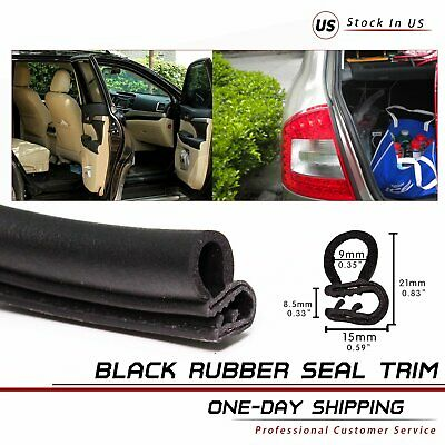 Car Rubber Seal Strip Door Edge Protector Guard Hardwearing Weather Strip 192''